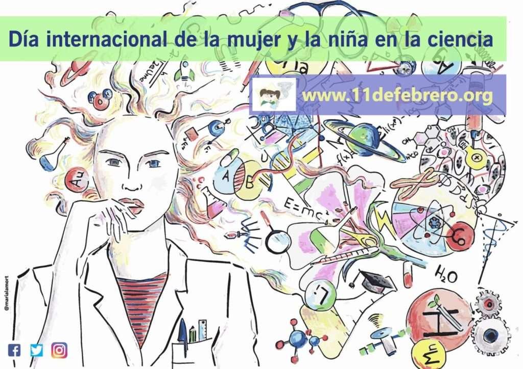 Cartel original del día internacional de la mujer y la niña en la ciencia