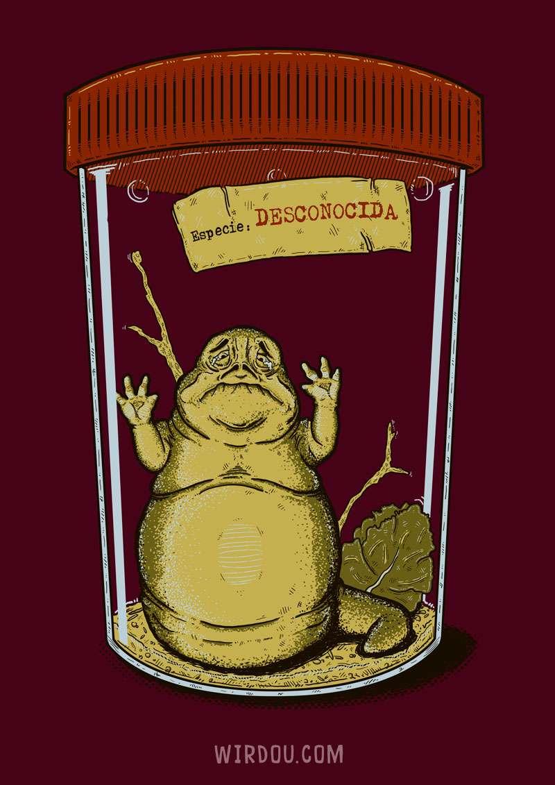 especie, star wars, jabba, ciencia, gracioso, divertida, coleccionista, bicho, insecto, gusano, oruga, biología
