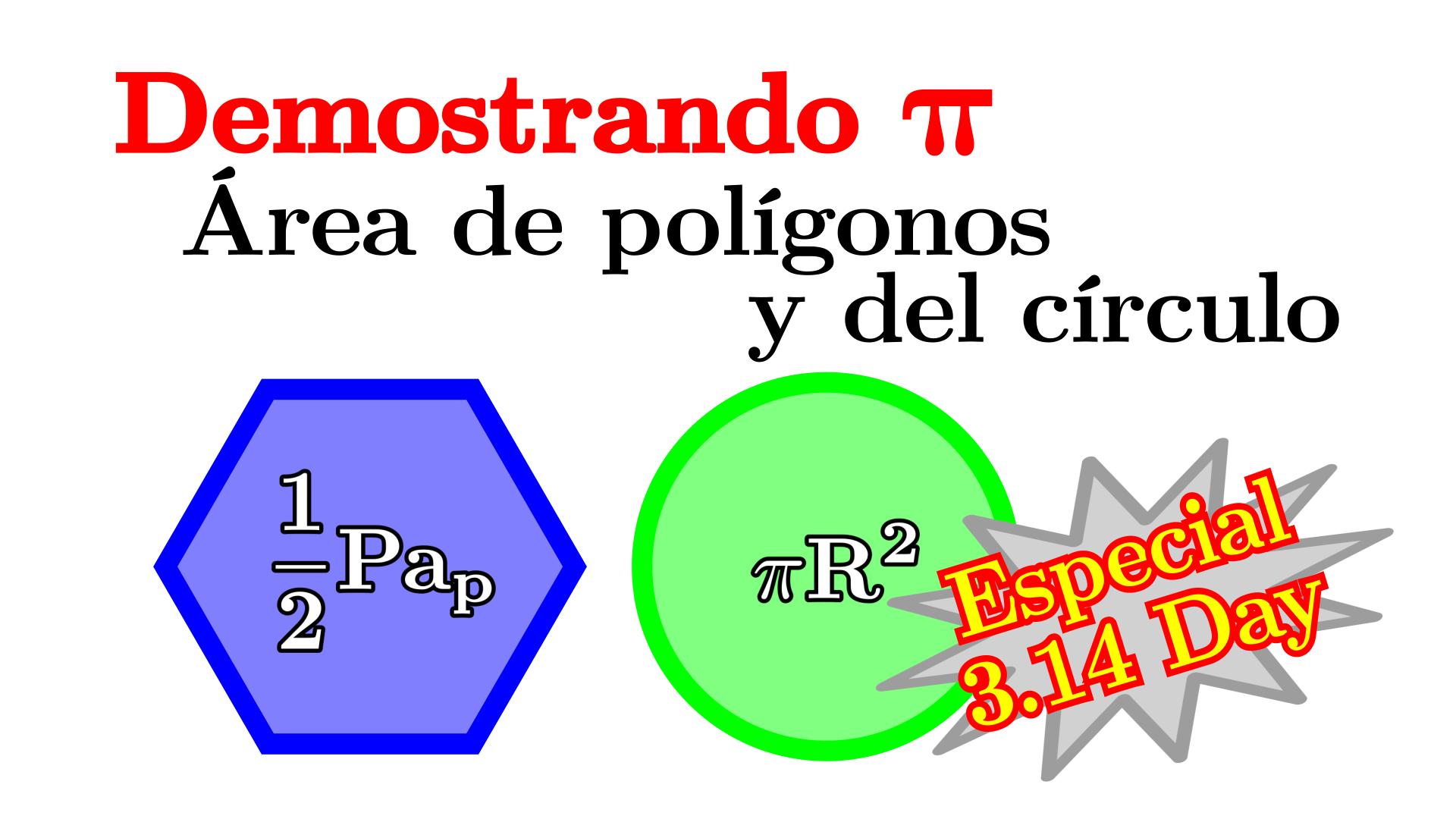 Area polígonos y circulo