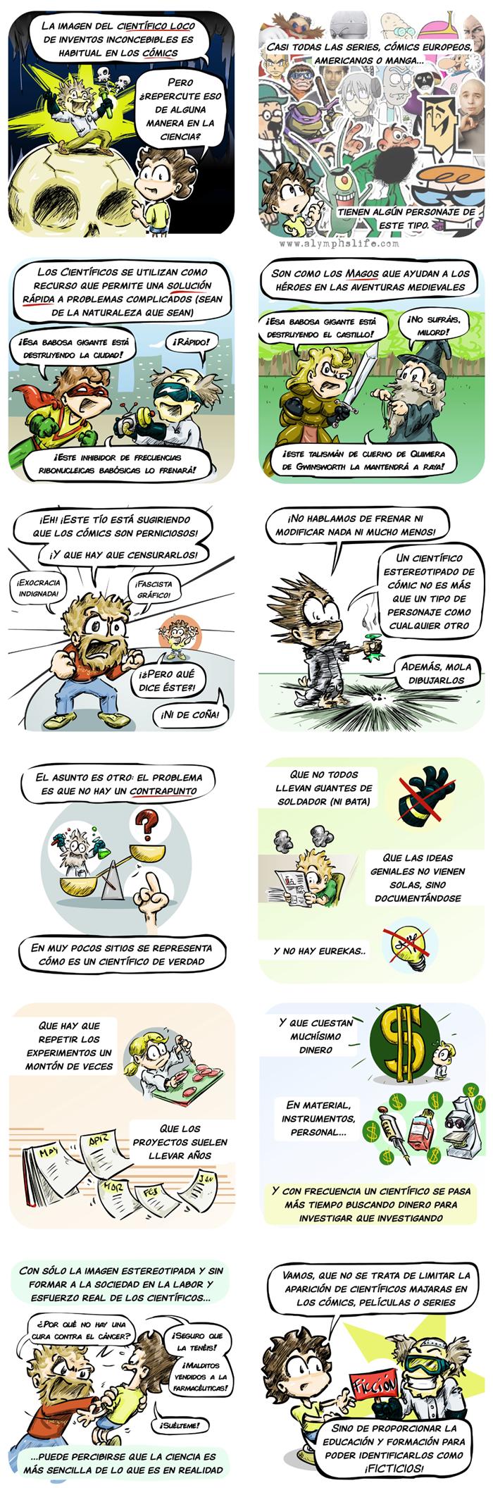 científicos locos, estereotipos y riesgos