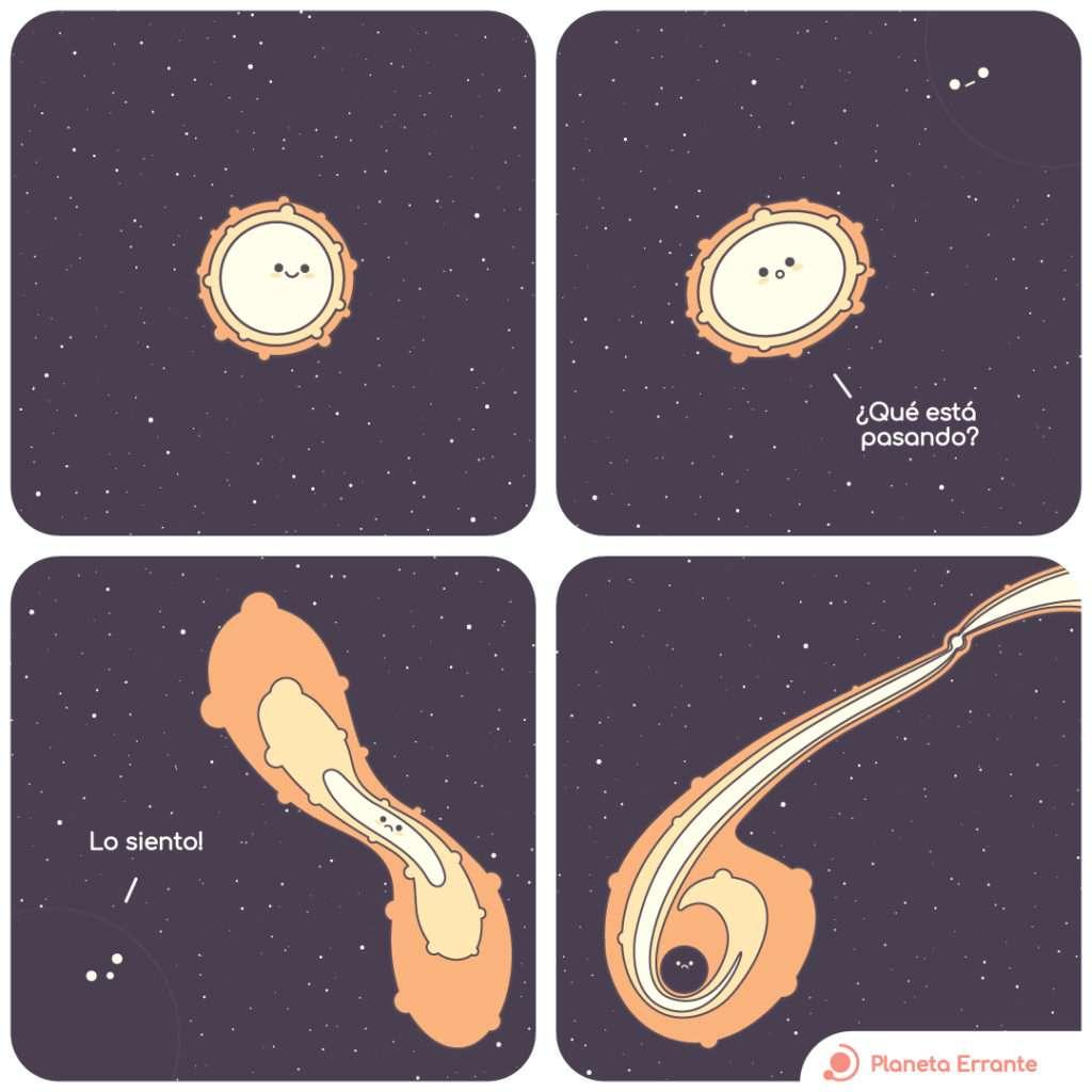 Estrella destruída por un agujero negro