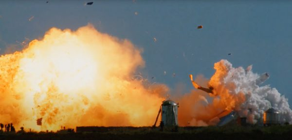 Explosión de la Starship SN9